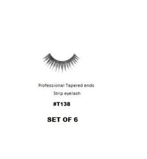 KASINA PRO TAPERED ENDS STRIP EYELASH #T138 (6 SETS)