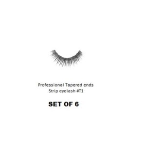 KASINA PRO TAPERED ENDS STRIP EYELASH #T1 (6 SETS)