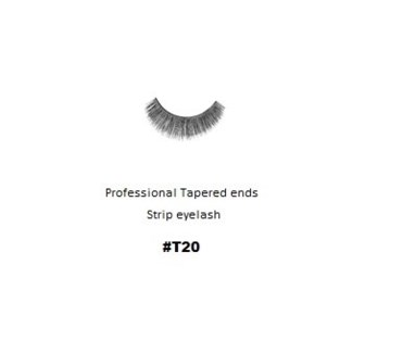 KASINA PRO LASH - TAPERED ENDS - STRIP EYELASH #T20-1 SET