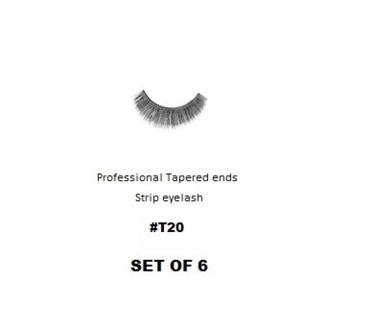 KASINA PRO LASH - TAPERED ENDS - STRIP EYELASH #T20-6 SETS