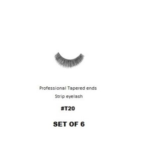 KASINA PRO TAPERED ENDS STRIP EYELASH #T20 (6 SETS)