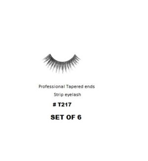 KASINA PRO TAPERED ENDS STRIP EYELASH #T217 (6 SETS)