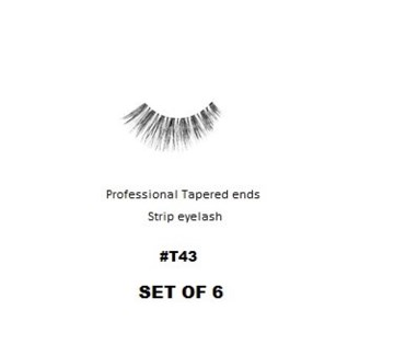 KASINA PRO LASH - TAPERED ENDS - STRIP EYELASH #T43-6 SETS