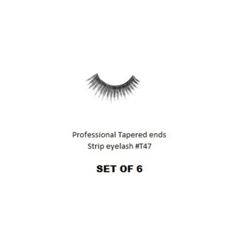 KASINA PRO LASH - TAPERED ENDS - STRIP EYELASH #T47-6 SETS