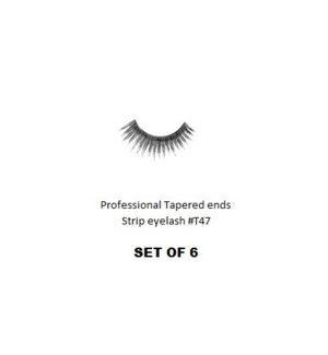 KASINA PRO TAPERED ENDS STRIP EYELASH #T47 (6 SETS)