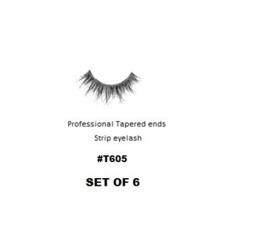 KASINA PRO LASH - TAPERED ENDS - STRIP EYELASH #T605-6 SETS