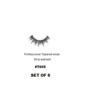 KASINA PRO TAPERED ENDS STRIP EYELASH #T605 (6 SETS)