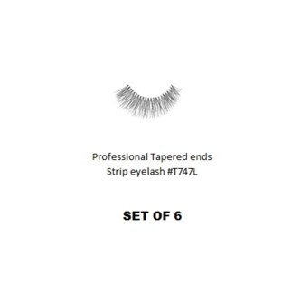KASINA PRO LASH - TAPERED ENDS - STRIP EYELASH #T747L-6 SETS