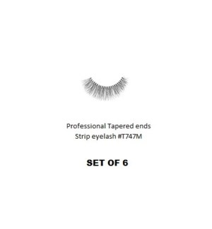 KASINA PRO TAPERED ENDS STRIP EYELASH #T747M (6 SETS)