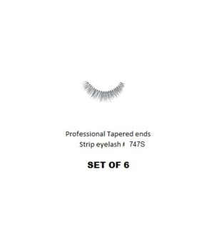 KASINA PRO TAPERED ENDS STRIP EYELASH #T747S (6 SETS)