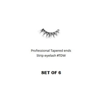 KASINA PRO LASH - TAPERED ENDS - STRIP EYELASH #TDW-6 SETS