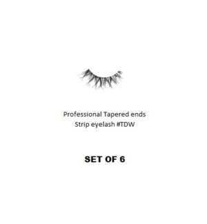 KASINA PRO TAPERED ENDS STRIP EYELASH #TDW (6 SETS)