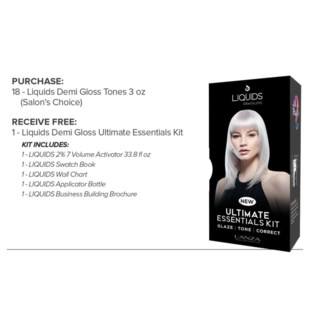 L'ANZA ULTIMATE ESSENTIAL KIT FREE W/18 LIQ DEMI GLS //MA'19