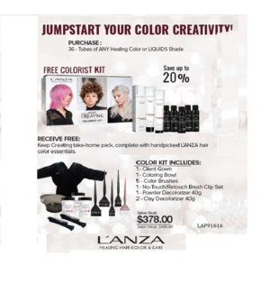 LANZA COLORIST KIT WITH PURCHASE OF 36 SHADES