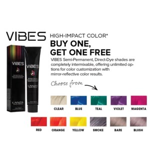 L'ANZA BUY ONE VIBES COLOR GET ONE N/C  ND'19