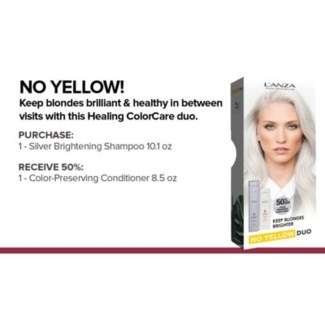 L'ANZA NO YELLOW COLORCARE KIT//MA'19