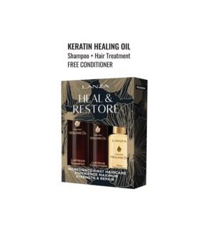L'ANZA KERATIN HEALING OIL HOLIDAY TRIO BOX  HD'19