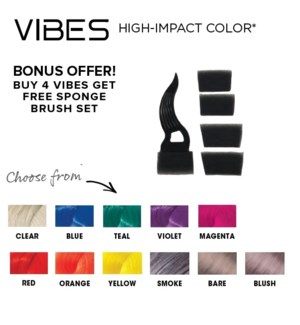 L'ANZA GWP SPONGE BRUSH SET WITH 4 VIBES COLOR  ND'19