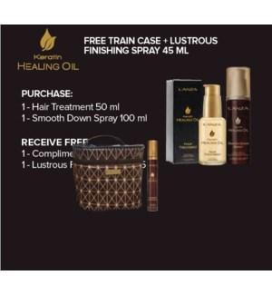 LAN KHO HAIR TREATMENT, SPRAY + TRAIN CASE JF'20