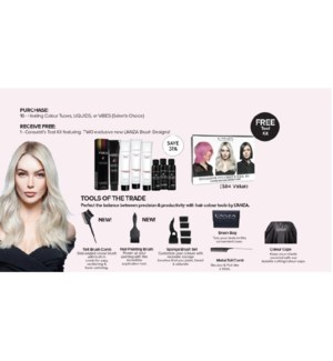 LANZA COLORIST KIT WITH PURCHASE OF 18 SHADES MJ'21