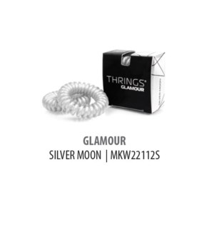 DISC//THRINGS - HAIR RINGS - GLAMOUR - SILVER MOON - 2PC