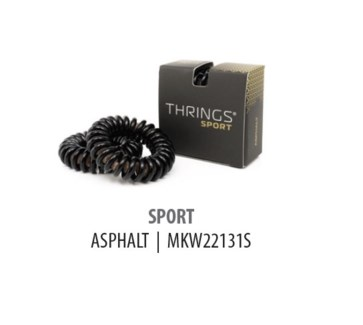 THRINGS - HAIR RINGS - SPORT - ASPHALT - 2PC