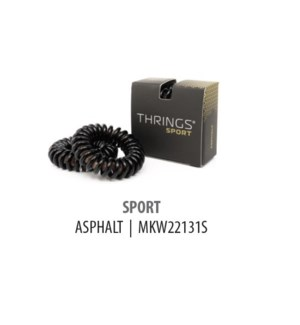 DISC//THRINGS - HAIR RINGS - SPORT - ASPHALT - 2PC