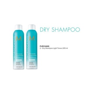 MO 1 + 1 DRY SHAMPOO LIGHT TONES (205ML) JF'20