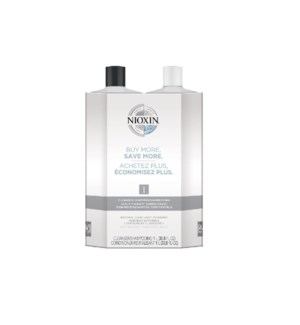 NIOXIN LITRE DUO 1 FINE-NORMAL TO THIN  JA'19