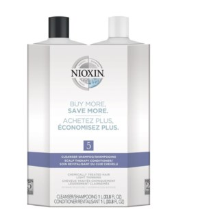 NIOXIN LITRE DUO 5 MED/COURSE-NORMAL TO THIN-CHEM TR//JF'19