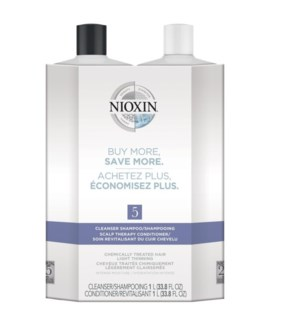 NIOXIN LITRE DUO 5 MED/COURSE-NORMAL TO THIN-CHEM TR  JA'19