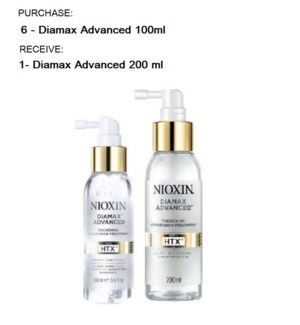 NIOXIN DIAMAX ADVANCED BUY 6 100ML GET 1 200ML NC SO'19