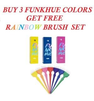 OLIGO FUNKHUES BUY (3) RECEIVE RAINBOW BRUSH SET