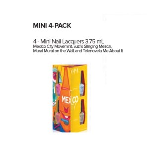 OP NL MEXICO CITY MINI NAIL LACQUER 4-PACK