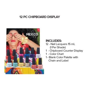 OP NL MEXICO CITY 12PC CHIPBOARD DISPLAY