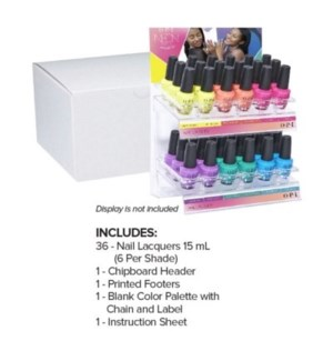 OP NL NEONS BY OPI SUMMER 36PC STOCK-IN-BOX/'19