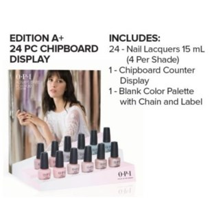 OPI ALWAYS BARE FOR YOU 24 PC CHIPBOARD DISPLAY//MA'19