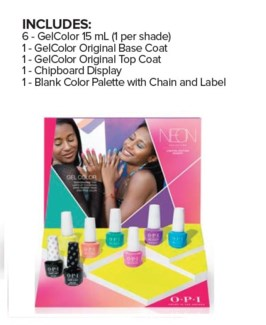 OP GC NEONS BY OPI SUMMER 8PC CHIPBOARD DISPLAY/'19