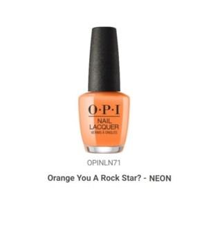 OPI NL ORANGE YOU A ROCK STAR?