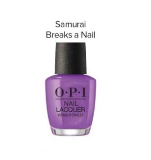OPI NL  SAMURAI BREAKS A NAIL