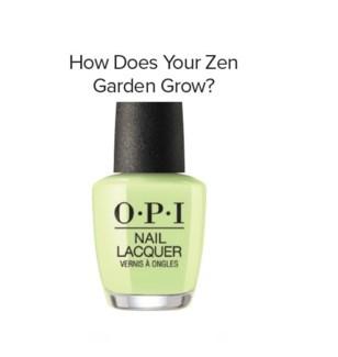 OPI NL  HOW DOES YOUR ZEN GARDEN GROW?
