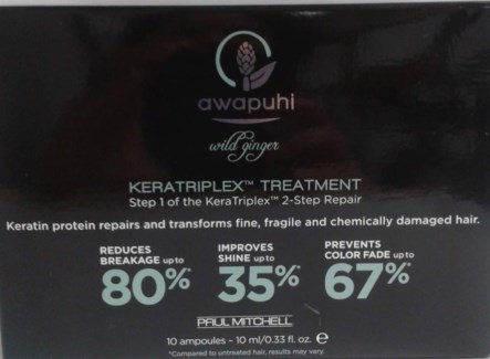 PM AWAPUHI GINGER KERATRIPLEX TREATMENT BOX(10x.33OZ)