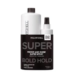 PM FREEZE & SHINE SUPER SPRAY 1L + 250ML  MJ21