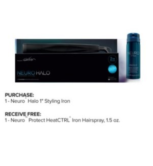 "PM NEURO HALO 1"" STYLING IRON (450)"