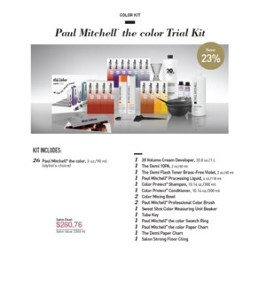 PM THE COLOR TRIAL KIT (TCTK15)//2019 - PREPACKED