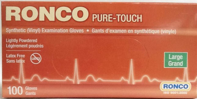 DISC//PURE TOUCH GLOVES  LARGE
