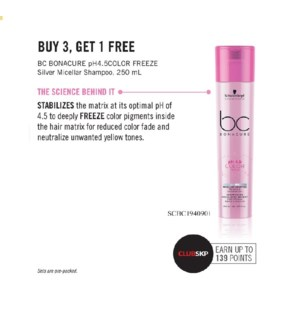 SC BC COLOR FREEZE SILVER 250ML BUY 3 GET 1 NC