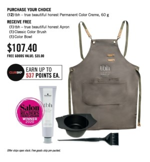 SC TBH BUY(12) GET  FREE TBH APRON BOWL + BRUSH ND20
