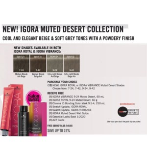 SC IR/VB BUY (12) NEW MUTED DESERT SHADES RECEIVE FREE GOODS
