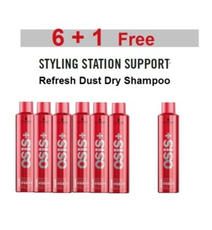 SC OS  6 + 1 REFRESH DUST DRY SHAMPOO 300ML